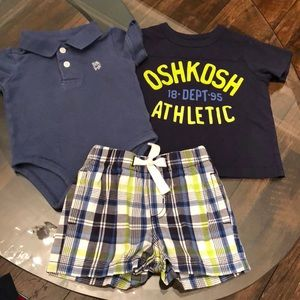 OshKosh 9 Month Boy Matching Short Set